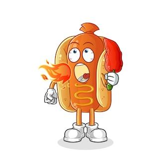 Cartoon hot dog illustrazione