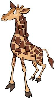 Illustrazione del fumetto del personaggio animale comico della giraffa del bambino