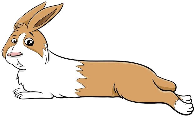 Illustrazione del fumetto del personaggio animale comico del coniglio nano