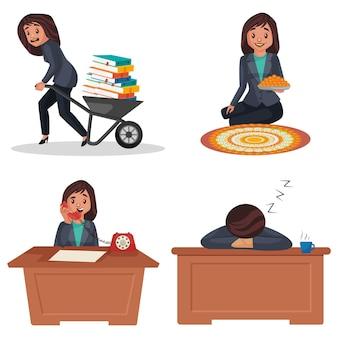 Illustrazione del fumetto del set di caratteri del responsabile delle risorse umane