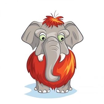 Immagine del fumetto di un mammut bambino.