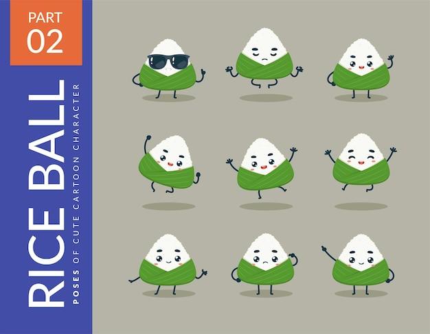 Immagini del fumetto della palla di riso. impostato.