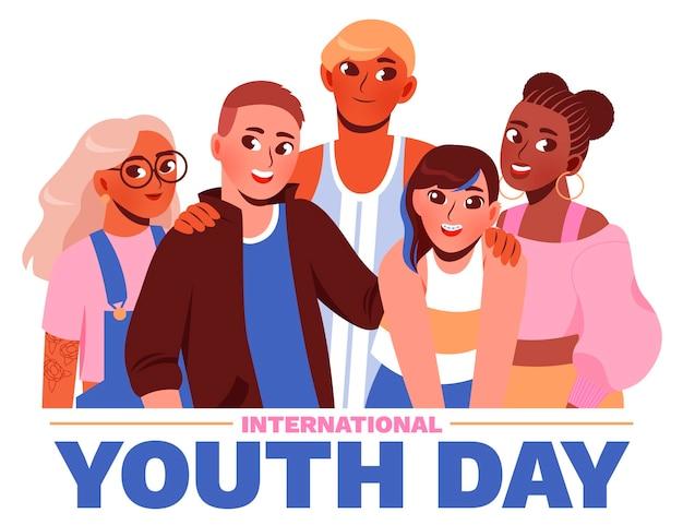 Illustrazione del fumetto della giornata internazionale della gioventù