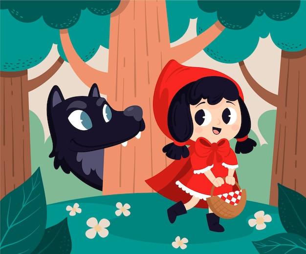 Cartoon cappuccetto rosso illustrazione cartoon