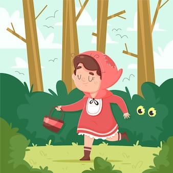Illustrazione di cappuccetto rosso del fumetto