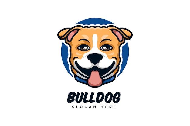 Logo del fumetto per cane con un concetto creativo ed elegante