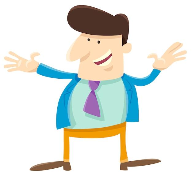 Personaggio dei cartoni animati uomo o uomo d'affari