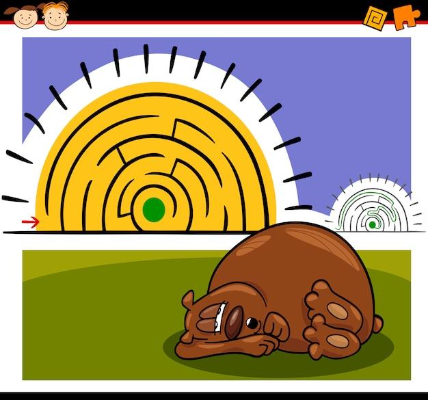 Labirinto dei cartoni animati o gioco del labirinto