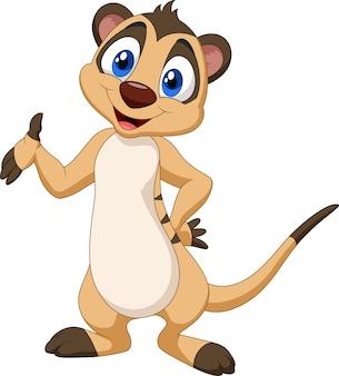 Posa del meerkat del fumetto