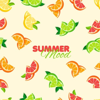 Reticolo senza giunte del fumetto arancia limone lime summer