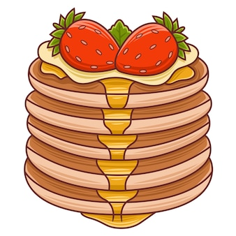 Frittelle del fumetto per l'illustrazione del caffè o del ristorante