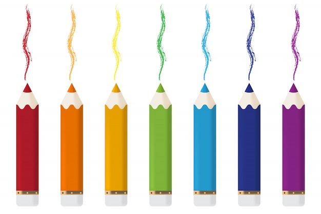 Pensils del fumetto con le linee dalla matita isolata