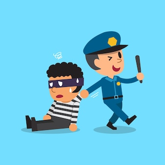 Poliziotto e ladro del fumetto