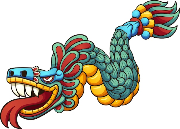 Cartone animato quetzalcoatl