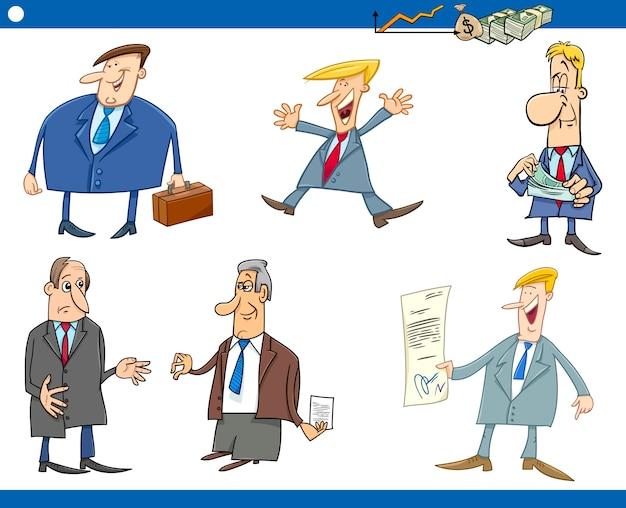 Serie di cartoni animati di uomini d'affari