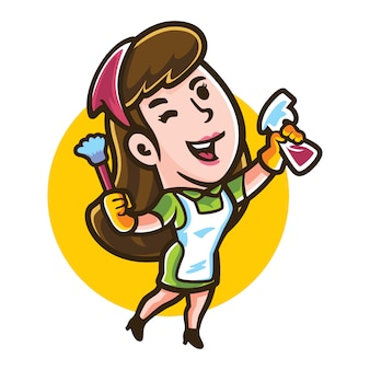 Cartoon shiny maid