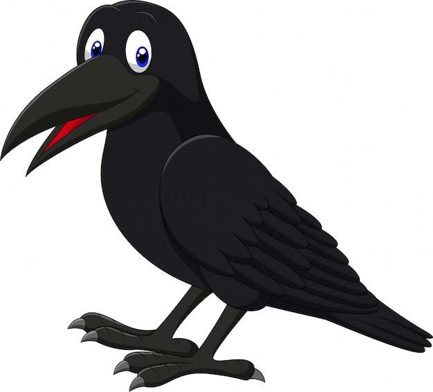 Cartoon sorridente corvo