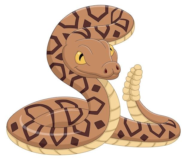 Serpente del fumetto su priorità bassa bianca
