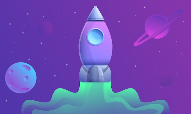 Volo nello spazio, illustrazione dell'astronave del fumetto