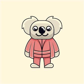 Illustrazione del maestro di koala carino in stile cartone animato