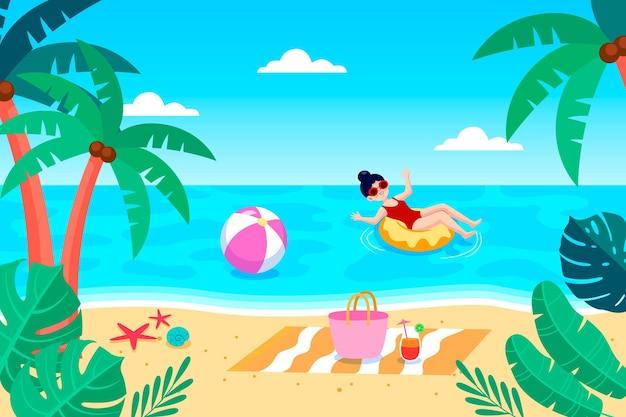 Priorità bassa di estate del fumetto per le videochiamate
