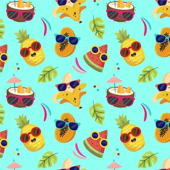 Reticolo tropicale estivo dei cartoni animati