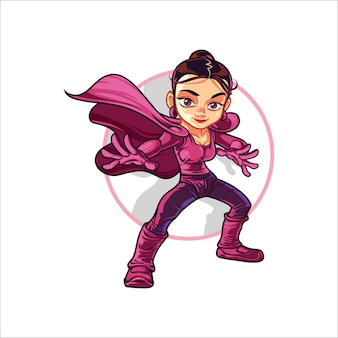 Cartoon super girl