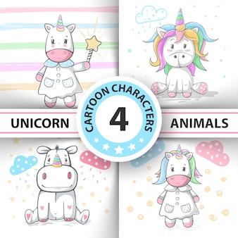 Illustrazione magica dell'icorno di unicorno del fumetto.