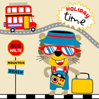 Cartone animato del tempo di vacanza