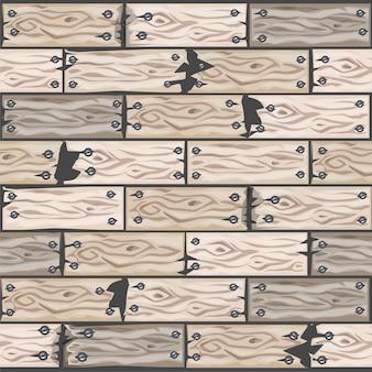 Reticolo delle mattonelle di pavimento sbiancato legno del fumetto. bordo di parquet in legno senza cuciture. illustrazione per l'interfaccia utente dell'elemento di gioco. colore 10