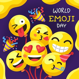 Cartoon mondo emoji day illustrazione