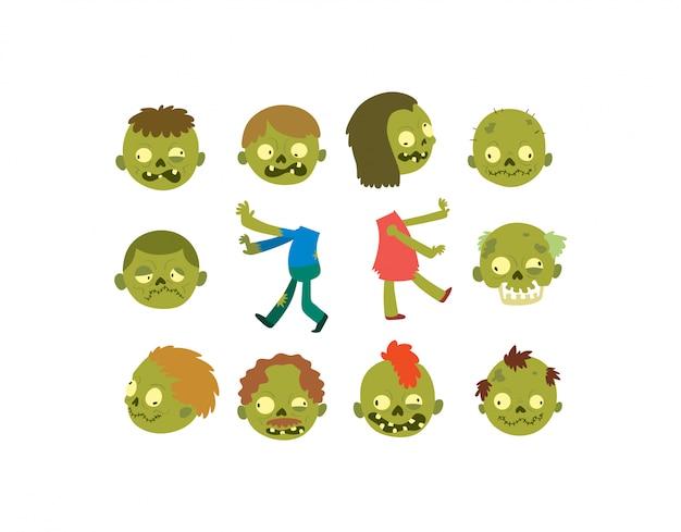 Personaggio dei cartoni animati di zombie