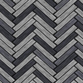 Modello di piastrelle a spina di pesce cartoonwood. seamless texture grigio parquet in legno bordo.