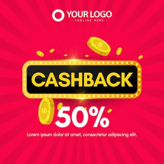 Design banner cash back