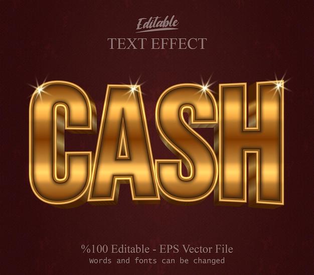 Vettore di effetto testo modificabile in contanti