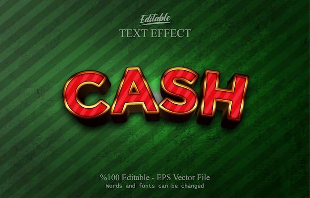 Effetto testo modificabile cash