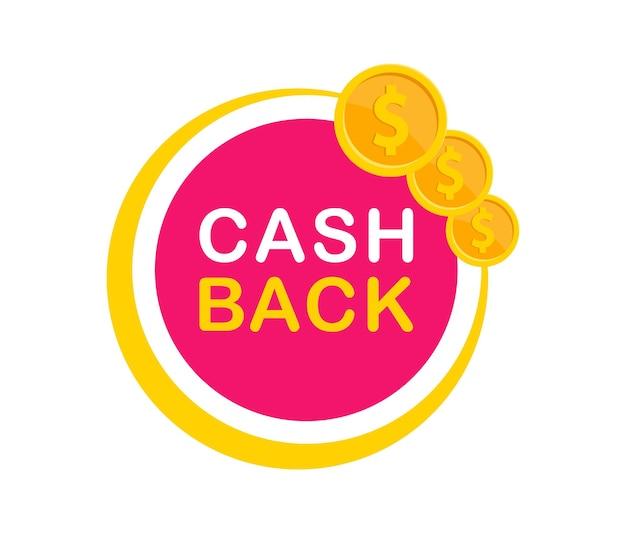 Distintivo di rimborso modello di logo di rimborso icona di rimborso bonus