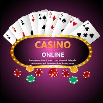Gioco d'azzardo brasiliano del casinò con le carte da gioco ed i dadi