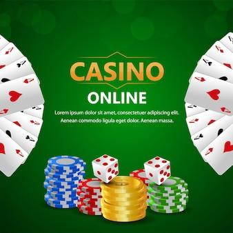 Sfondo del gioco d'azzardo del casinò