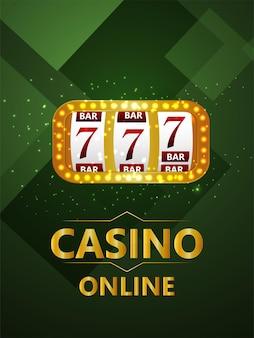 Gioco d'azzardo del casinò online con illustrazione vettoriale