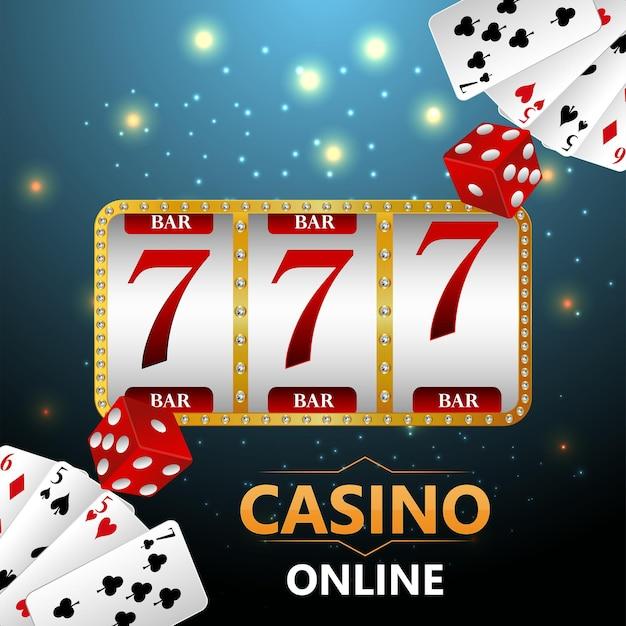 Gioco d'azzardo da casinò con illustrazione creativa di carte da gioco e fiches del casinò