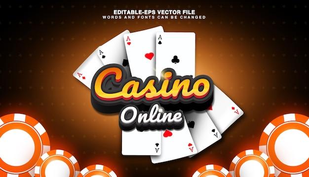 Sfondo di casinò online con chip di carte da gioco