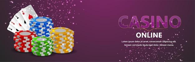 Banner di gioco d'azzardo online del casinò