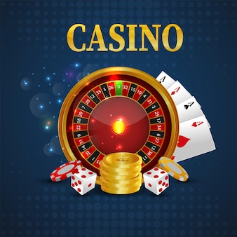 Sfondo di celebrazione del gioco d'azzardo online del casinò