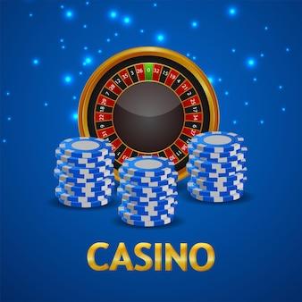Gioco d'azzardo online del casinò con fiches del casinò