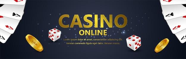 Gioco d'azzardo online del casinò con illustrazione