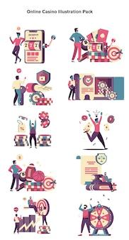 Pacchetto di illustrazioni online del casinò