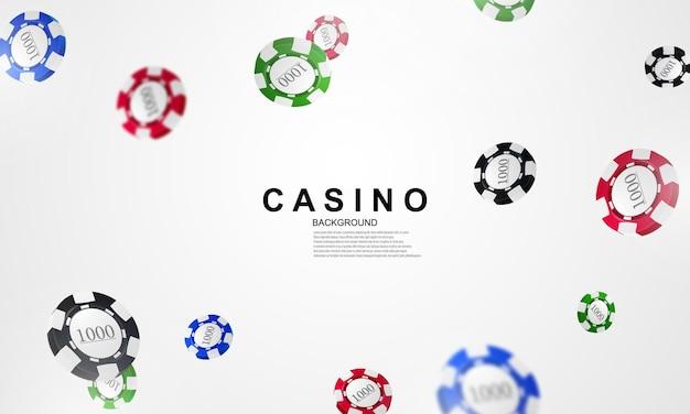 Casinò in linea. smartphone o telefono cellulare, slot machine, fiches del casinò che volano gettoni realistici per il gioco d'azzardo, contanti per roulette o poker,