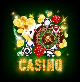 Jackpot del casinò poker monete d'oro splash vittoria
