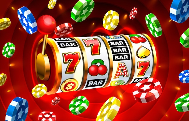 Icone slot casinò slot machine segno notte vegas vector